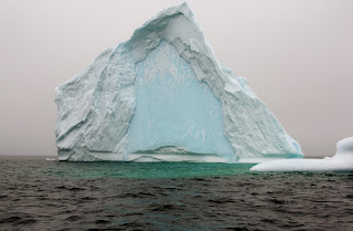 Blue water faced iceberg Bonavista