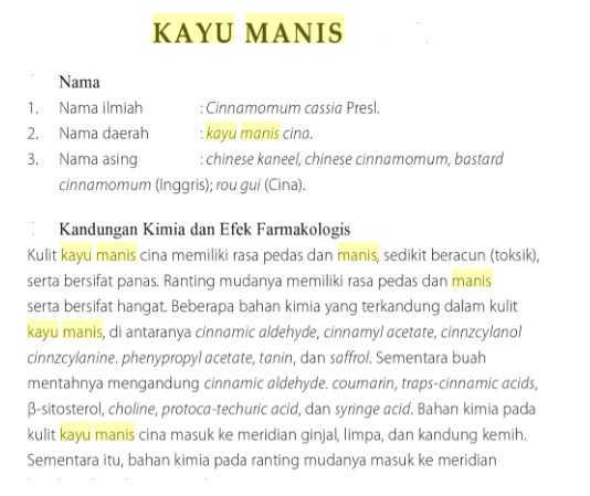 Pohon Kayu Manis Dan Khasiatnya