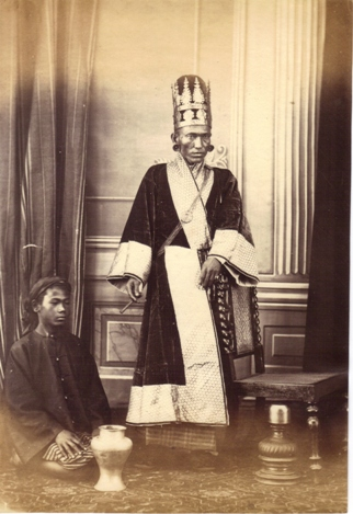 19th century Burmese minister wearing court dress