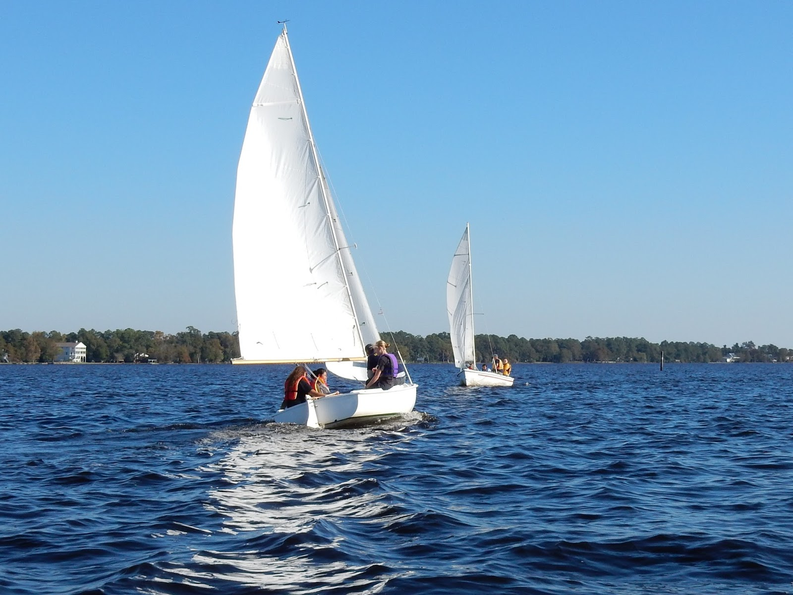 New bern high school naval junior rotc sailing october 2016 - Difference between port side and starboard ...