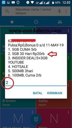 paket internet tri 5gb 20rb