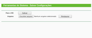Salve as configurações do Roteador