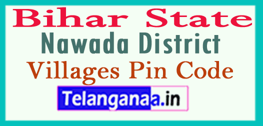 Nawada District Pin Codes in Bihar State