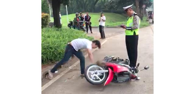 Dibanting di Depan Polisi, Motor Kesayangan Pacar Adi Saputra Ternyata Hasil Curian