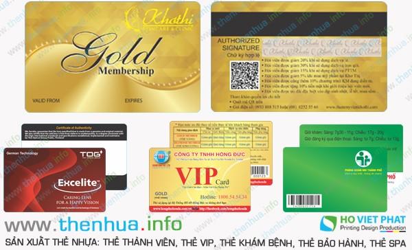 Làm thẻ VIP 100% chất liệu PVC cao cấp uy tín