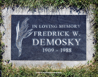 Tombstone of Fred Demosky