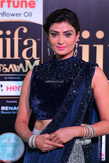 Ishita Vyas in Velvet Sleeveless Choli Designer Saree at IIFA Utsavam Awards 2017  Day 2  HD Exclusive 07.JPG