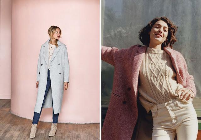 Девушки в пальто пастельного цвета