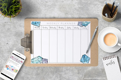 weekly planner to print