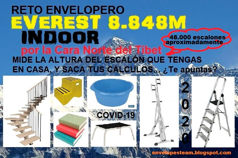 EVEREST 🏔️ EN CASA 🏠 - RETO ⛓ ENVELOPERO ❤ EVEREST 🏔 8.848m INDOOR 🔁 CORONAVIRUS 🦠 2020