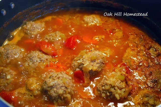 Albondigas, or porcupine meatball soup, combines meatballs, vegetables and spicy Mexican seasonings in a delicious hearty bowl of soup.