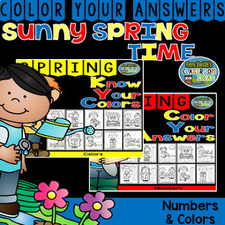 Color By Code Spring Time Know Your Numbers and Know Your Colors Bundle - Your students will adore these Spring Adorable Kids Color By Numbers and Color By Code worksheets while learning and reviewing important skills at the same time! You will love the no prep, print and go ease of these printables.  This math resource includes: * Ten Know Your Colors Color By Numbers Pages  * Ten Know Your Colors Color by Code Pages  * Twenty Answer Keys #FernSmithsClassroomIdeas