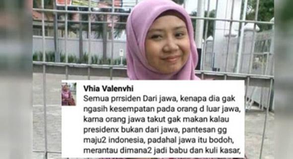 Vhia Valenvhi kini jadi incaran netizen akibat hina orang jawa dengan celaan ...