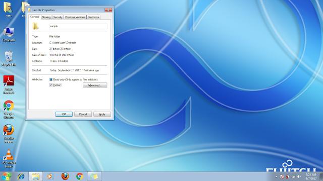 hidden file option in windows 7