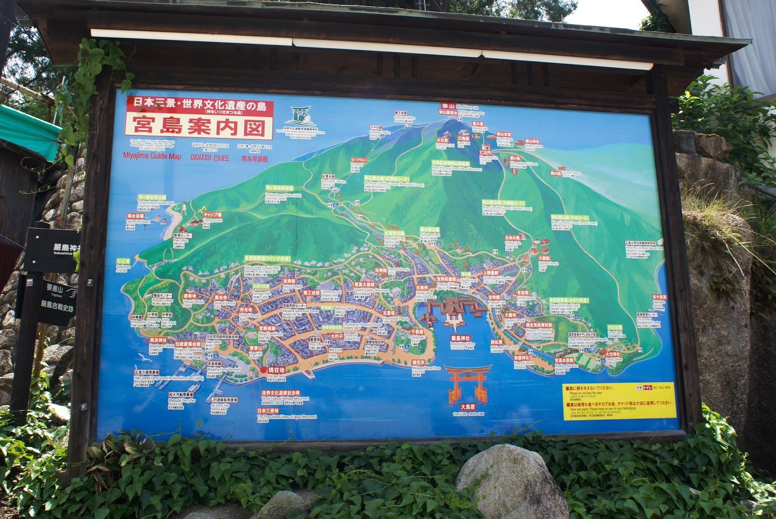 miyajima itsukushima japan guide map