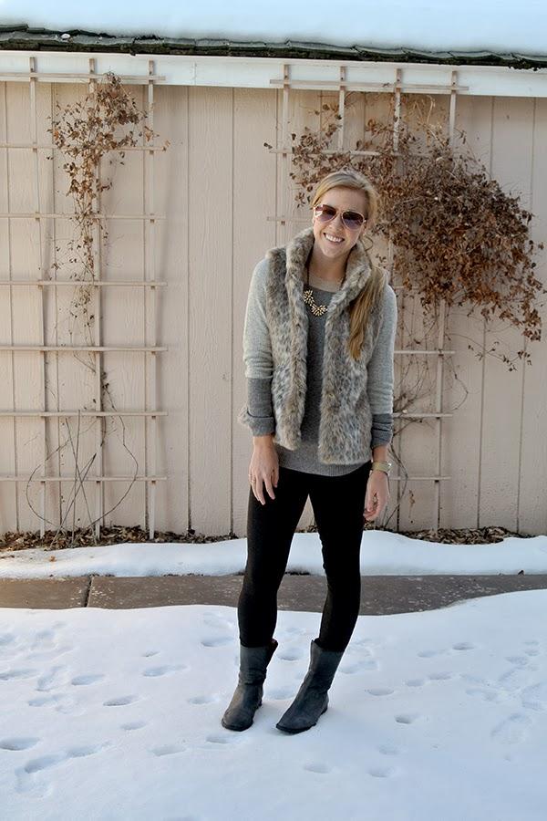 d3876bc49fe6 aBree Fashion: leopard faux fur vest: 2 ways