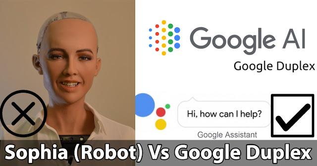 Sophia (Robot) Vs Google Duplex