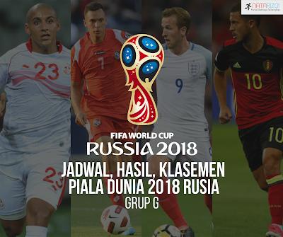 Jadwal, Hasil, dan Klasemen Grup G : Piala Dunia 2018