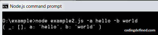 Pass command line arguments in NodeJS - Coding Defined