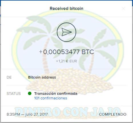 BitGames Pago Recibido por CoinBase