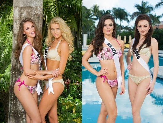 Miss Universe 2014 candidates in swimsuit