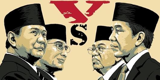 Survei Cyrus Network: Jokowi-Amin 56,4%, Prabowo-Sandi 38,1%