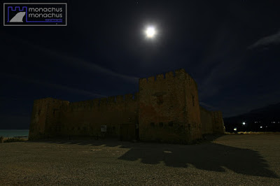 Supermoon over Frangokastello fortress