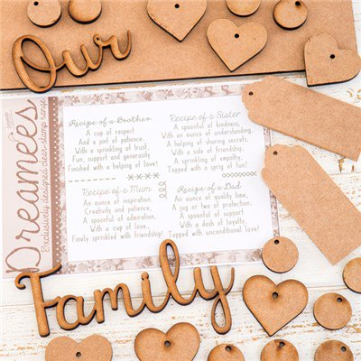 Family recipe MDF & stamp collection was £25.99 now £9.99!