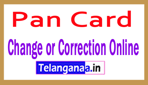 Apply for PAN Card Change or Correction