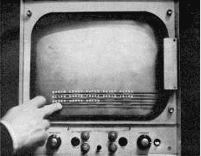 quien invento la primera pantalla tactil