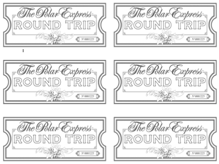 ticket coloring pages | Sherbert Cafe: Blank Polar Express Ticket