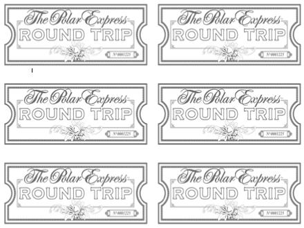Sherbert cafe blank polar express ticket for Polar express golden ticket template