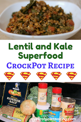 Lentils are a fantastic source of protein, iron, and fiber. So is Kale. When you combine these two superfoods in the crockpot slow cooker with the correct spices and seasoning you have got yourself an AMAZING meal.