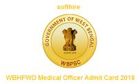 WBHFWD Medical Officer Admit Card