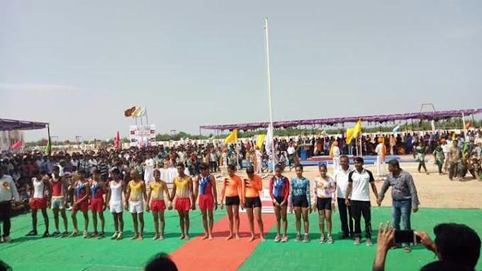 बाकरा मे 62वी राज्य स्तरीय 17-19 वर्ष छात्र छात्रा जिम्नास्टिक खेलकूद प्रतियोगिता का शुभारंभ