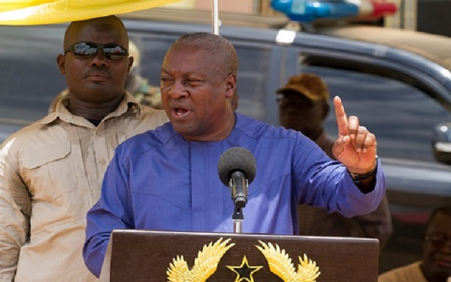 NPP abandoned you - Mahama to Eastern region