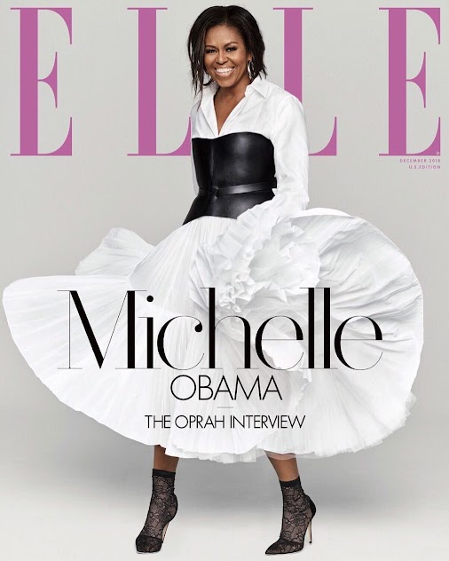 Michelle Obama as she covers ELLE Magazine's December Issue || PICS Michelle Obama is the cover star...