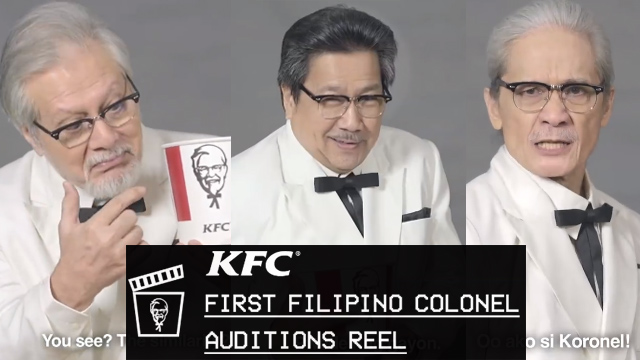 Watch the Funny Audition of 3 Veterans Actor for KFC's First Filipino Colonel