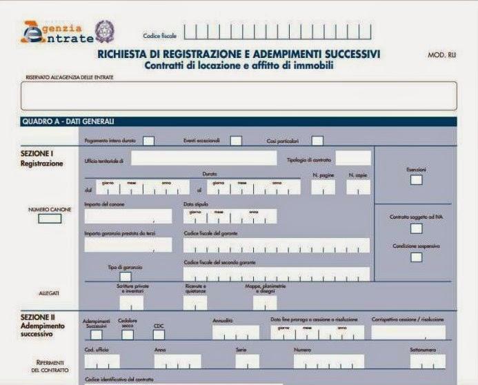 Infocasa le locazioni e l 39 ufficio del registro for Imposta di registro locazione