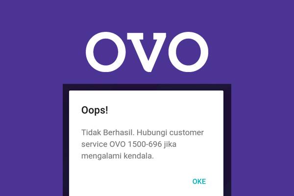 mengatasi OVO gagal login 400-tidak berhasil