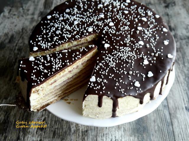 Prinzregenttorte - tort księcia regenta - słodki tort bez cukru - Czytaj więcej »