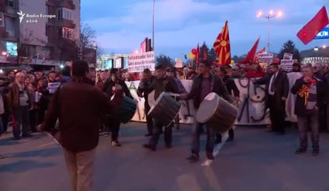 Protests against Albanian language continue in Macedonia