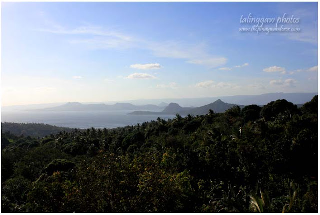 Taal Lake and Volcano, view from Hermitage of Our Mother