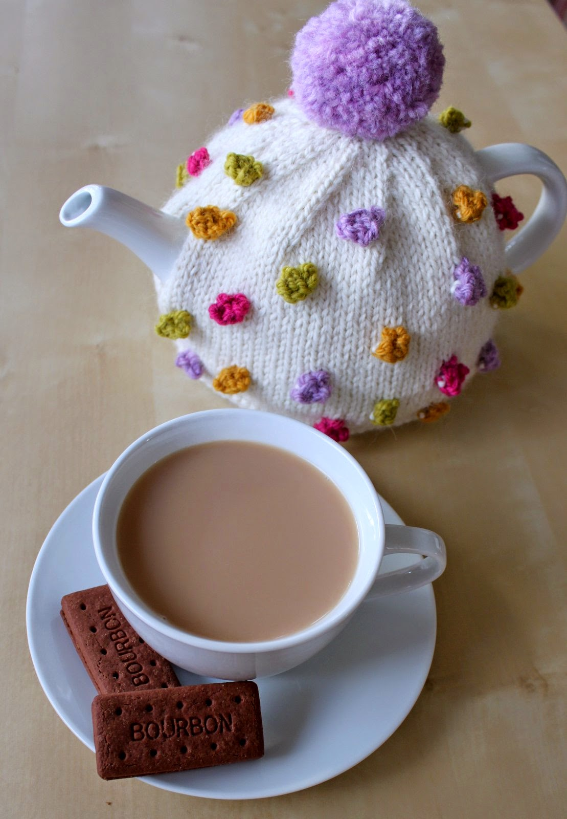 tea cosy template - hand knitted things anyone for tea