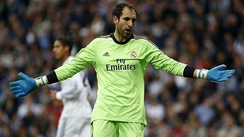 Diego Lopez không nhận được sự ủng hộ từ huấn luyện viên của mình.