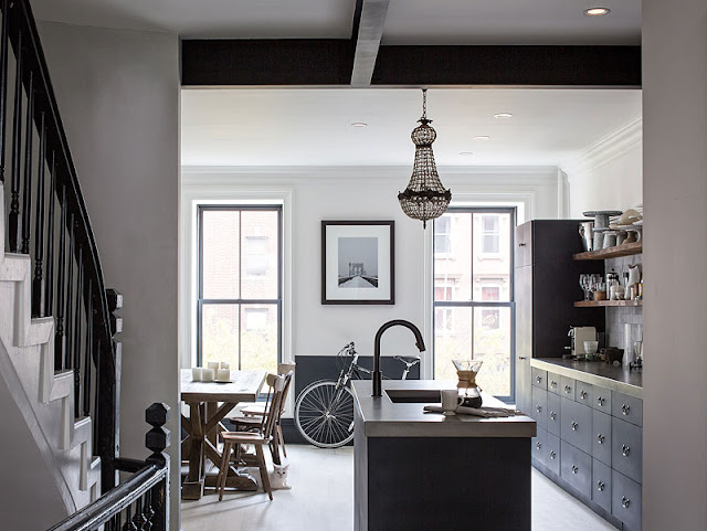 An Upgraded New York Brownstone With Respect To Its Original Design Kitchen