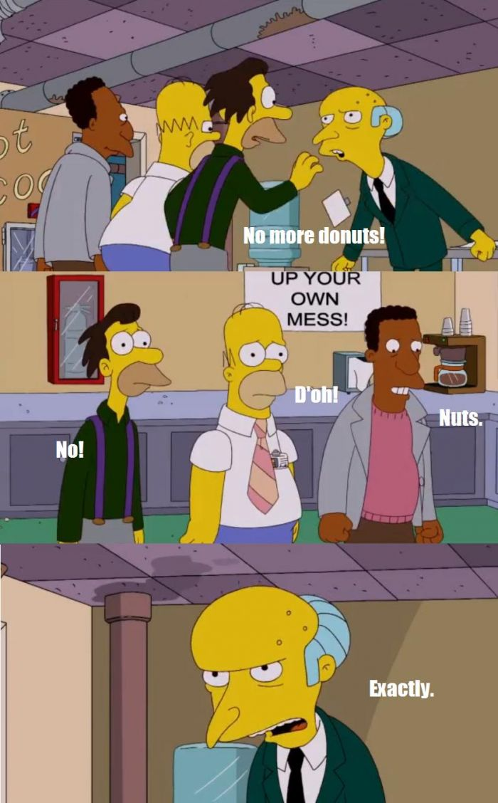 Donuts Being Banned By Mr. Burns