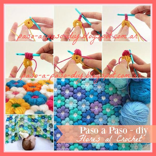 Cómo hacer el punto flor al crochet