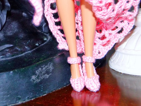 Sapatos de Crochê Para a Barbie - Por Pecunia MillioM 4
