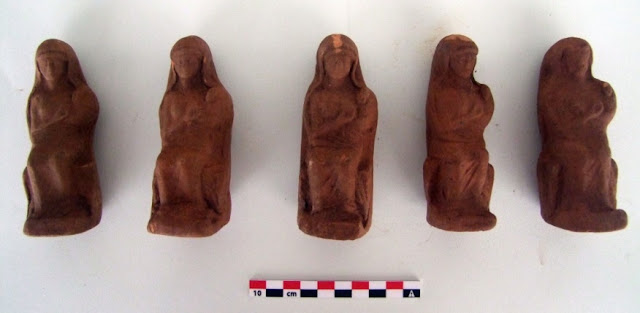 Votive figurines discovered at Anavlochos massif in eastern Crete
